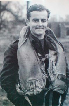 P/O John G. Pattison 266Sqn - On his first operation the squadron intercepted a force of 40 enemy bombers and their fighter escort. Pattison became separated from the rest of his squadron, ran out of fuel and made a wheels-up landing in a field bristling with anti-aircraft obstacles. He was greeted by pitchfork-wielding farmers who took the New Zealander for a German.