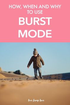 Photography Tip for Beginners : Burst / Continuous mode is great for capturing action shots, such as your child running, dancing or jumping. Here's a guide to how, when and why to use burst mode in this photography tutorial for beginners!