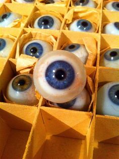 An array of antique blue glass eyes, c. Glass Dolls, Cindy Sherman, Theme Pictures, Medical Anatomy, Get Shot, Doll Eyes, Painted Pots, Crafty Craft, Antique Glass