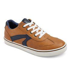 Boys' Gibson Casual Sneakers Cat & Jack Tan 2, Brown