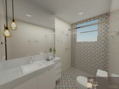 Revestimento em cor para banheiros