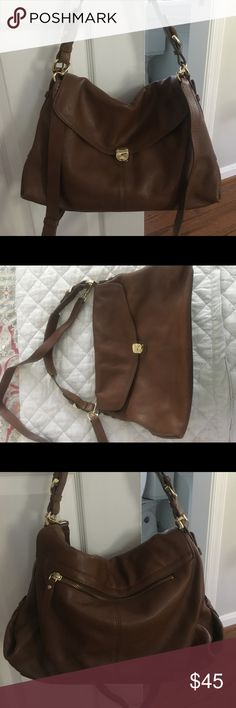 New banana republic whiskey crossbody bag Never used and stored in my closet. Shoulder and crossbody strap. Banana Republic Bags Crossbody Bags