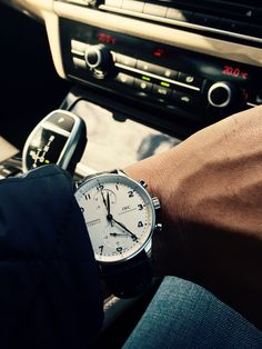 IWC Portuguese chronograph Iwc Chronograph, Breitling, Rolex, Cool Watches, Men's Watches, Chanel, Hand Watch, Watch Model, Luxury Watches For Men