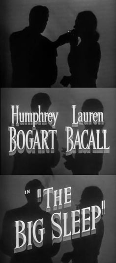 The Big Sleep (1946) Classic Film Noir, Classic Movies, Humphrey Bogart, Bogie And Bacall, Double Indemnity, The Big Sleep, New York, Star Wars, Film Watch