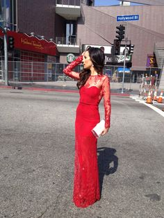 My vote for one of the best dressed at the Oscars - Catt Sadler #oscars #red #lace