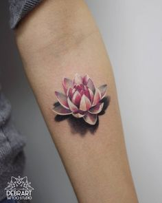 lotus tattoo by Deborah Genchi - KickAss Things