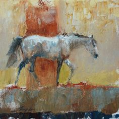 "Horse - ""Study of Gray"" oil/cold wax by Gayla Wiedenheft Horse Artwork, Farm Art, Abstract Animals, Cow Art, Horse Drawings, Southwest Art, Encaustic Painting, Equine Art, Western Art"
