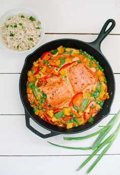 3. Butternut Squash Curry with Salmon & Veggies