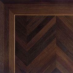Brass Inlay in a Natural Wenge Floor Wood Floor Design, Wood Floor Pattern, Herringbone Wood Floor, Floor Patterns, Tile Design, Timber Flooring, Parquet Flooring, Hardwood Floors, Classic Interior