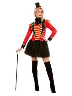 51049 Costume Ringmaster, Costume Halloween, Costume Dress, Adult Halloween, Adult Costumes, Costumes For Women, Cirque Vintage, Vintage Circus, Skirt