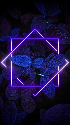 Beautiful purple neon with leaves wallpaper for your phone! Iphone Wallpaper Lights, Neon Light Wallpaper, Frühling Wallpaper, Phone Wallpaper Images, Flower Phone Wallpaper, Iphone Background Wallpaper, Aesthetic Iphone Wallpaper, Aesthetic Wallpapers, Leaves Wallpaper