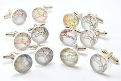 Groomsmen Gift Gifts for Groomsmen Map Cufflink by dlkdesigns