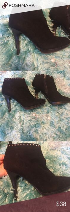 Selling this Black studded style & co booties on Poshmark! My username is: lointhecle. #shopmycloset #poshmark #fashion #shopping #style #forsale #Style & Co #Shoes