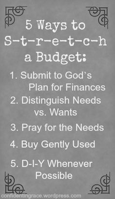 5 Ways to Stretch a Budget