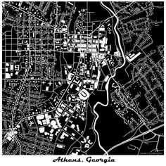 New york city map 1944 new york city manhattan street map vintage uga map art print athens ga map print more colors by mapofhome malvernweather Gallery