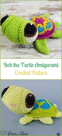 Crochet Bob the Turtle Amigurumi Paid Pattern - Crochet Turtle Amigurumi  Patterns Ganchillo De La Abuelita b288eaa7a6a