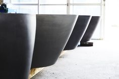 This European design polished concrete bathtub is pure luxury. Make a statement in your bathroom with this handmade piece of art. The gentle slope of the curved back rest offers total comfort for your bathing experience. Concrete Basin - Concrete Bath - Australian Made - Architecturally Designed - Bathroom - Interior Design - Bathroom Renovation - Bathtub - Handmade - Concrete - Luxury Interiors - Architecture - Contemporary Bathroom - Modern Bathroom - @concretenation Concrete Bathtub, Concrete Basin, Luxury Interior, Interior Architecture, Concrete Interiors, French Grey, Polished Concrete, Bathroom Interior Design, Modern Bathroom