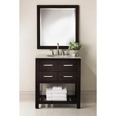 Home Decorators Collection, Fraser 31 in. Vanity in Espresso with Solid Granite Vanity Top in White, 0417710820 at The Home Depot - Mobile