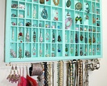 Teal, Vintage type drawer jewelry display, type drawer jewelry box, accessories storage, Unique Earring Holder, Gift for her