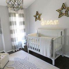 Dreamy baby boy nursery - love the gray, neutral design! via @coleymo23