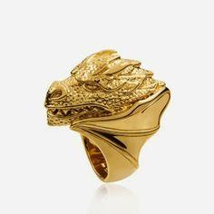 Gold Targaryen ring by Aristocrazy  http://cuchurutu.blogspot.com.es/2014/04/game-of-thrones-fashion-ha-vuelto.html