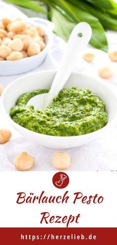 Wild garlic pesto with macadamias – this dip is sensational! Garlic Recipes, Dip Recipes, Easy Recipes, Wild Garlic Pesto, Pesto Recipe, Pesto Pasta, Quick Easy Meals, Food Photography, Good Food
