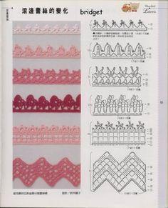 Filomena Crochet e Outros Lavores: Outros Barrados de Crochet