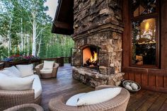 Nestled among the tranquil aspens, this elegant mountain home boasts wrap-around decks with unobstructed, breathtaking views of the surrounding Rocky Mountains.  The heart of the home is the exquisite kitchen and hearth room. Each bedroom and bathroom is unique with one bedroom hosting a six queen bed bunk room and two additional bunks in a hall area. The lower level family room has a bar, pool table, large sitting area and TV.