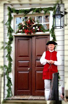 Christmas in Colonial Williamsburg Virginia | Colonial Christmas Decorations, Shields Tavern, Williamsburg, Virginia