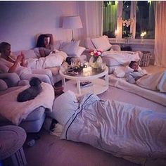 Movie night with baes
