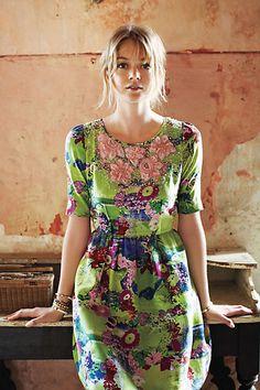 Elizabeth Postcard Dress from Anthropologie.  I want this.  Mine mine mine.