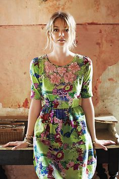Elizabeth Postcard Dress from Anthropologie.  I want this.  Mine mine mine.