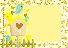 Resultado de imagem para papel de scrap 2 Year Old Birthday, Birthday Cards, Bird Party, Borders And Frames, Baby Shower Balloons, Art Clipart, Writing Paper, Little Birds, Flower Frame