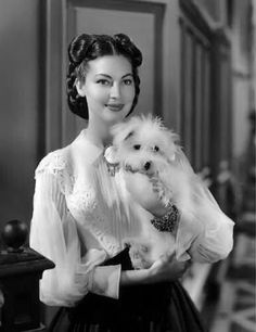 Ava Gardner and her dog.