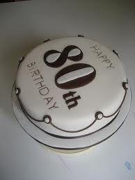 Round 80th birthday cake