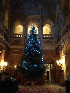 The Downton Abbey castle at christmas