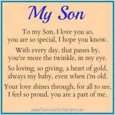 Quotes To My Son Love To My Son Isaiah I Love You From Mom Honey
