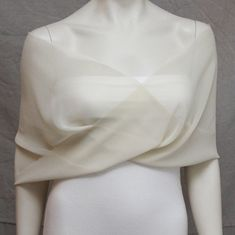 Ivory Chiffon Shrug Bolero Chiffon Bride Bridal Capelet by boubo, $44.00