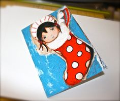 Hang in There  Angel Girl  Greeting Card 5 x 7 by FlorLarios, $5.00
