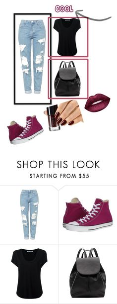 """""""Untitled #6"""" by esmalapandic ❤ liked on Polyvore featuring Topshop, Converse, Alexander Wang, Witchery and Lime Crime"""