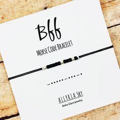 Best Friend BFF Morse Code Bracelet  Morse Code by AllyriaSky