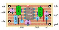 dual buffer in a Electronics Basics, Guitar Pedals, Music Guitar, Circuits, Layouts, Dog, Building, Diy Dog, Buildings