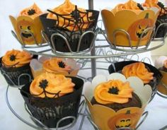 Laser cut Halloween cupcake wrappers