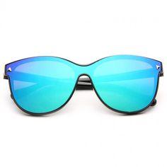 Cheap Designer Inspired Sunglasses | Pearson Color Mirror Horn Rimmed Sunglasses | BleuDame.com