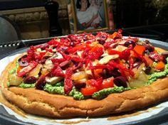 AMAZING Gluten Free Pizza Crust & Pesto Pizza!  Gluten Free, Dairy Free, Maker's Diet  glutenfreehappytummy
