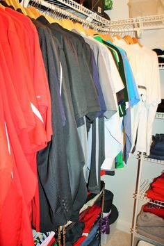 the gold project - my husband's closet
