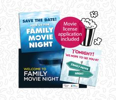 Get our free Family Movie Night -- everything your need to plan and organize a great event!
