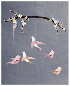 bird mobile to hang in tent