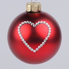 heart christmas ornaments - Google Search