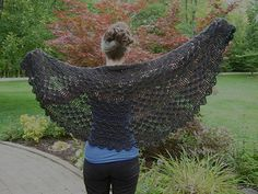 Tranquil Wrap / Tea Wrap / Sea Shell Wrap - free crochet pattern (registration may be required) by Lion Brand Yarn.